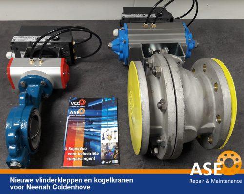ASE Repair BV - Vlinderkleppen en kogelkranen - Papierindustrie